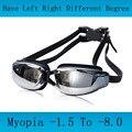 Gafas de natación miopía profesional para adultos, gafas de natación para hombres, gafas de natación antiniebla, gafas de natación, gafas de agua para natación