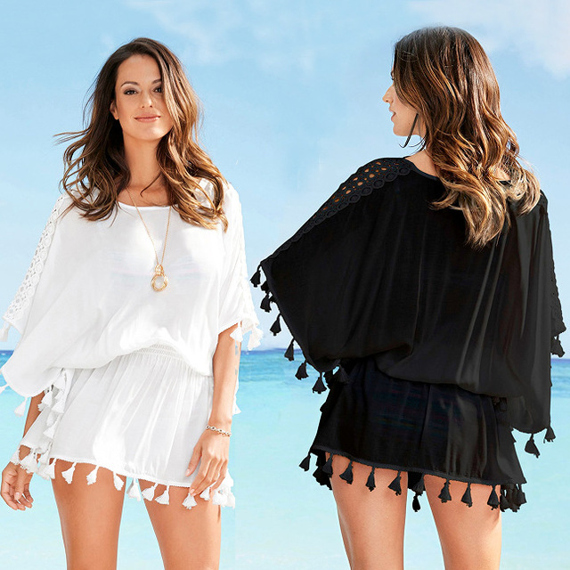 Beach Dresses 2019 Casual Fringe Boho Dress Plus Size Woman Beach ...