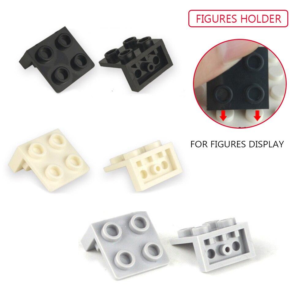 3 Colors Figures Display Holder Shield DIY Accessories Compatible Legoed Base Plate Building Blocks Educational Children Toys