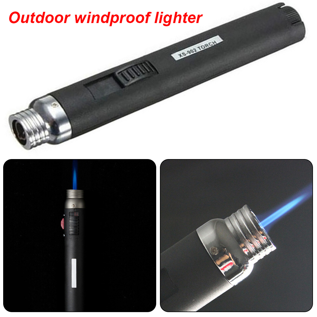 Outdoor Supplies Welding Torches Lighter Torch Jet Flame Portable Pencil Butane Gas Refillable Fuel Welding Soldering Pen