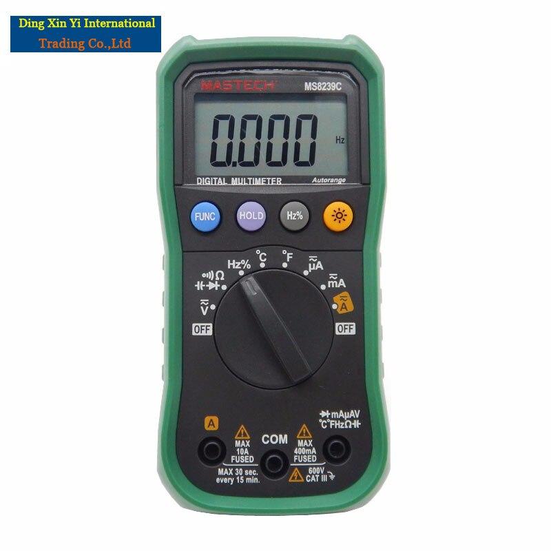 Digital Multimeter MASTECH MS8239C  AC DC Voltage Current Capacitance Frequency Temperature Tester Auto range multimetro 3 3/4  цены