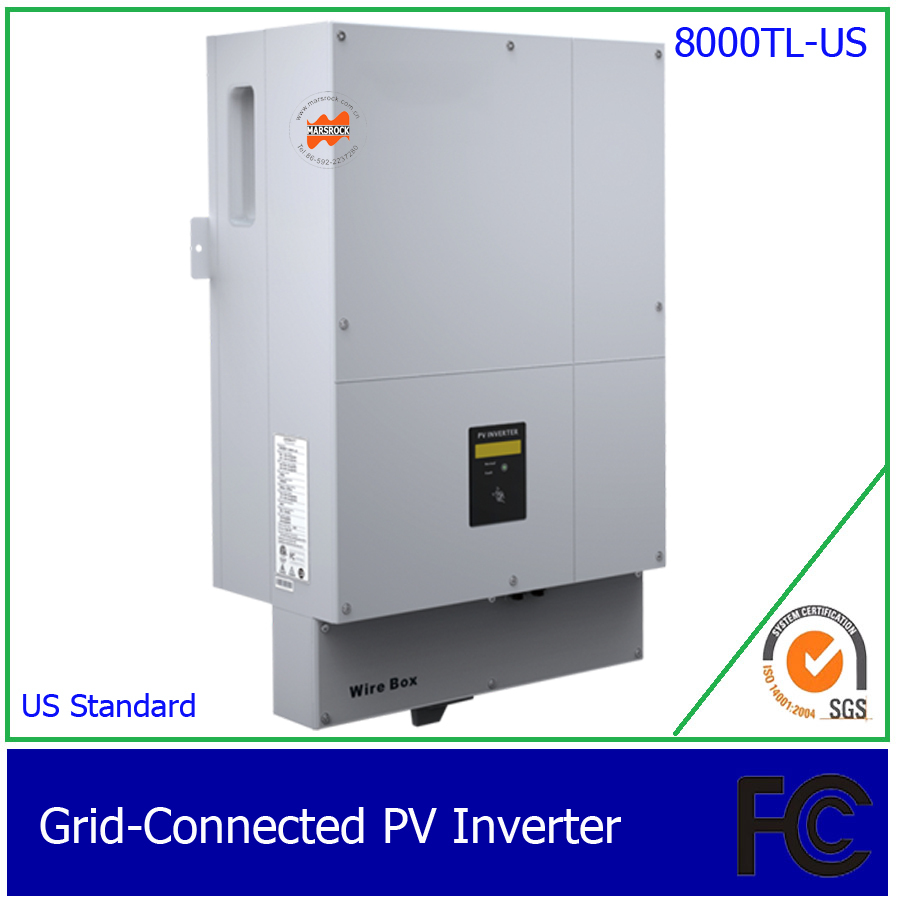 8000W/8KW Two Phase DC AC grid tie solar inverter for US, with 1 MPPT, transformerless, waterproof IP65 40cpq040 to 247