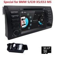 Miễn phí Vận Chuyển 7 inch 1Din Car DVD Player Cho BMW E53 1996-2007 E39 5 Dòng X5 M5 Xe auto Đài Phát Thanh GPS Navigation 3 Gam BT SWC MÁY ẢNH