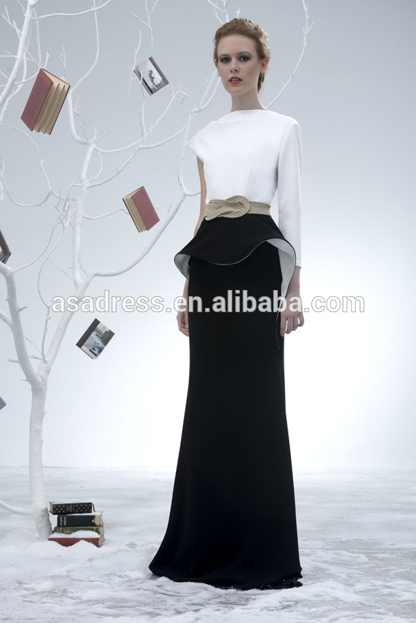Online Buy Wholesale black evening gown white bow from China black ...