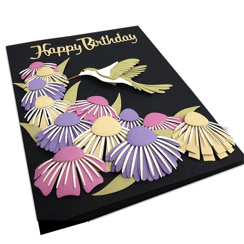 YaMinSanNiO New Design Craft Flower Metal Cutting Dies 2019 Decor Scrapbooking Album Paper DIY Card Craft Embossing Die Cuts in Cutting Dies from Home Garden