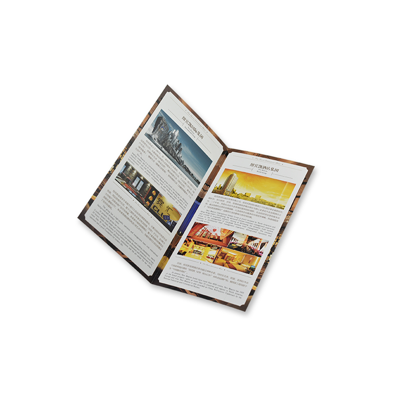Zuoluo Colorful Custom Printed Folded Flyer Booklet Brochure For Advertising