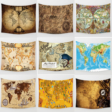 Hot sale world map  tapestries wall hanging tapestry rectangle size L 200*150cm M 150*130cm