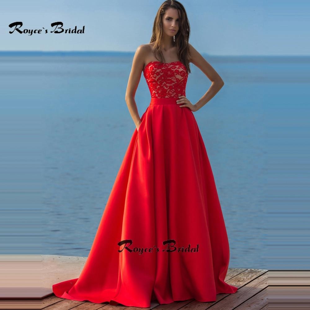 Satin red prom dress - Fashion dresses