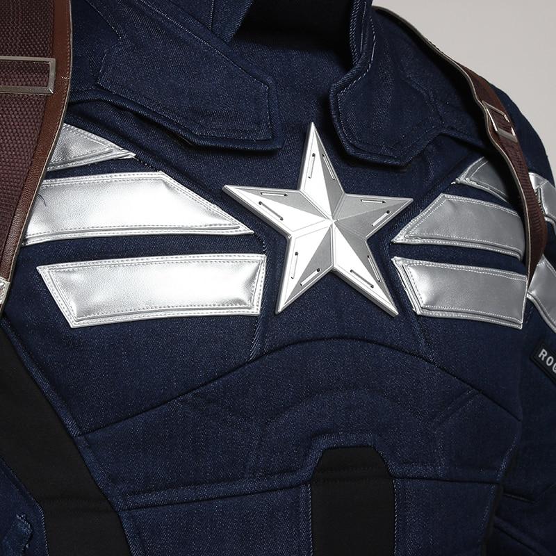 Captain America Cosplay Kostuum The Winter Soldier Steve Rogers - Carnavalskostuums - Foto 4