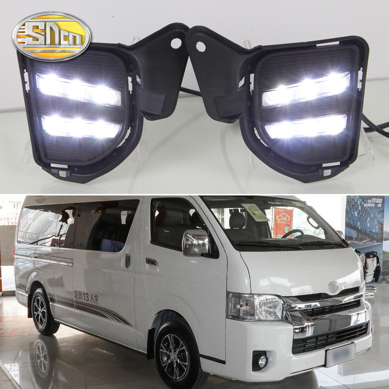 For Toyota Hiace 2014 2015 2016 Yellow Turn Signal Relay Waterproof 12V Car DRL Lamp LED
