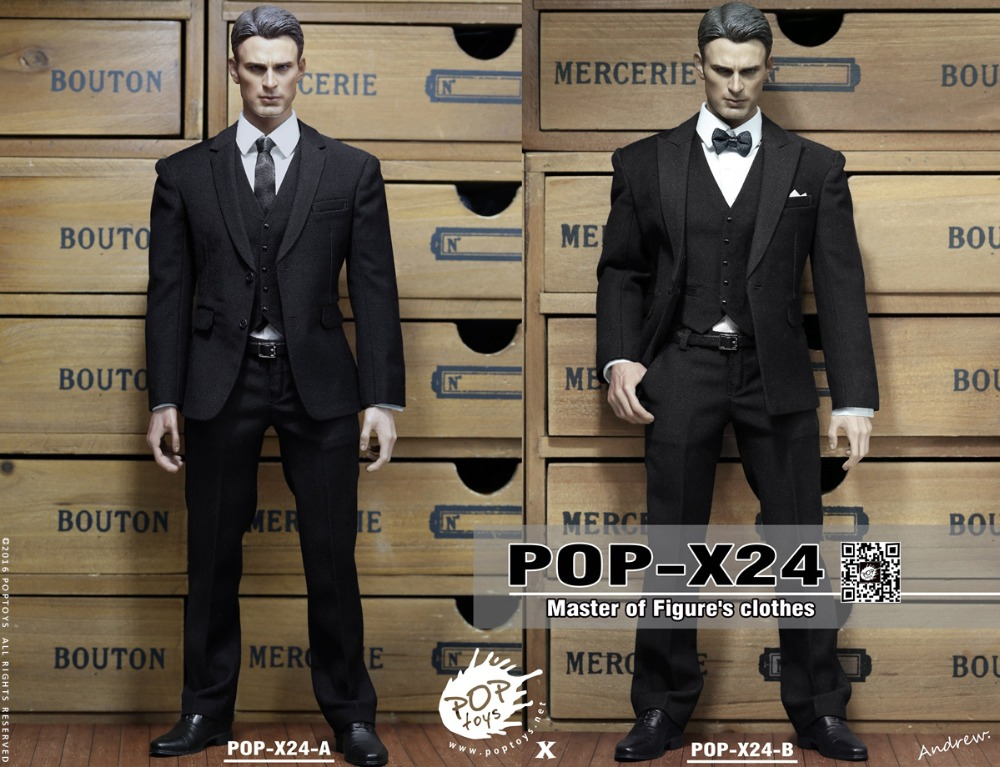 ФОТО 1/6 scale Figure Accessory Clothes Captain America Business Suit for 12