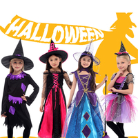 2018 Costume For Girls Boy Children S Halloween Christmas Kids Witch Wizard Cloak Gown Robe With