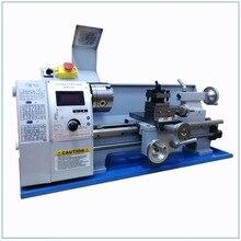 Aktualisiert Bürstenlosen Motor Mini Metall Drehmaschine Bank Variable Geschwindigkeit 8X16 850W Top Digital für Holz arbeits