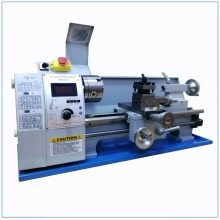 Updated Brushless Motor Mini Metal Lathe Bench Variable Speed 8 X 16 850W Top Digital for Wood working