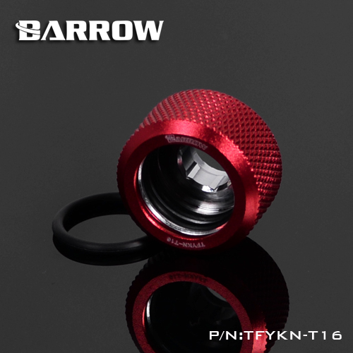 Купить с кэшбэком BARROW Hand Compression OD16mm Hard Tube Fitting Water Cooling Metal Connector Fitting G1/4'' Thread TEPG Acrylic