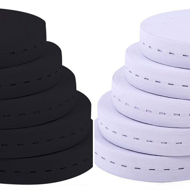 15/20/<font><b>25MM</b></font> 5M White Black Nylo <font><b>Elastic</b></font> Band Spandex Belt Trim Sewing/Ribbon Clothes Flex Sewing Material for Shorts Skirt Trouse image