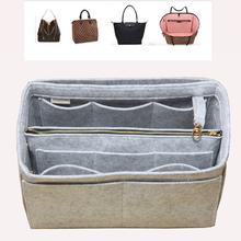 Fits[Artsy MM, Alma MM,Melie,IENA MM]Felt Insert Bag Organizer Purse Handbag in Bag(w/Detachable Zip Pocket