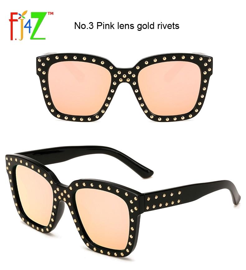 F. J4Z de ojo Gafas moda punk Remaches cuadrado Marcos hombres Gafas ...