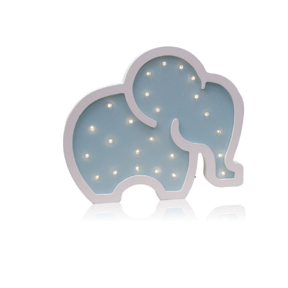 Creative Decor Night Light Elephant Cartoon Led Light Baby Sleeping Wall Lamp Manual Wooden NightLight Baby Kids Gift IY304123 6