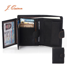 J.Quinn Mens Wallet Leather Genuine Card Coin Walle
