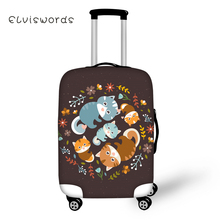 ELVISWORDS Cute Animals Printed Travel Luggage Cover Cartoon for Girls Boys Suitcase Protective High Elasticity Case