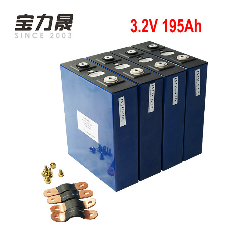 4PCS NEW 3.2V 190Ah Lifepo4 Battery LFP Lithium Solar 4S 12v200ah  Cells Not 100Ah For Pack EV Marine RV Golf EU TAX FREE