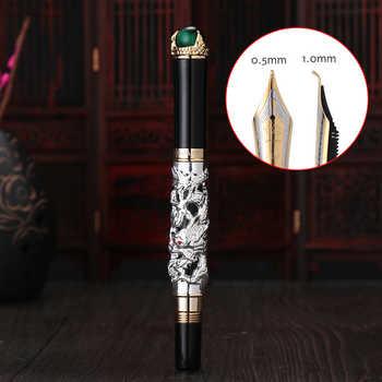 Jinhao Dragon Fountain Pen High Quality Pluma Stylo Plume Caneta Tinteiro Pluma FuenteTitanium Dolma Kalem Tips Collection Gifts - DISCOUNT ITEM  26% OFF All Category