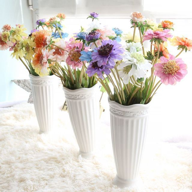 Simulation Flower Nice 4 Forked Silk Artificial Windmill Orchid For Home Table Decoration Wedding Party Fake