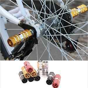 고품질 MTB 자전거 1 쌍 자전거 페달 정면 후방 차축 발 못 BMX 발판 레버 실린더 자전거 부속품