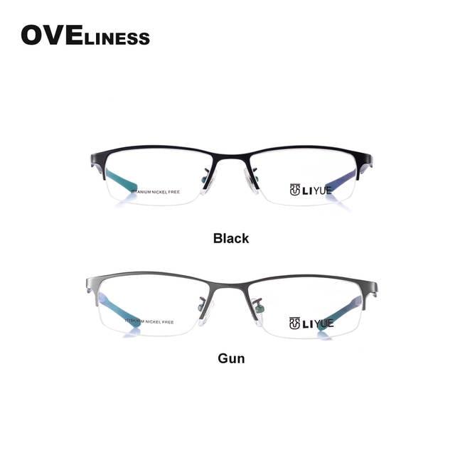 11a705f75a0e pure titanium eyeglasses frames men optical glasses half rim eye glasses  frames for men prescription spectacles
