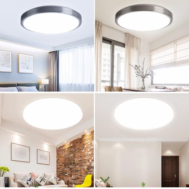 Luckyled Montowane Powierzchniowo światła Sufitowe Nowoczesna Lampa Sufitowa Akryl Led Salon światła Led Sufit światło Dla łazienki