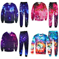 Harajuku hoodies&joggers space galaxy printed I AM A DREAMER 3d sweatshirts pants 2 piece sets Plus size S-XXL Free shipping