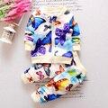 Childern BibiCola nueva primavera de la moda de ocio ropa de los bebés fijó Colorida mariposa juego de los cabritos ropa de manga larga traje