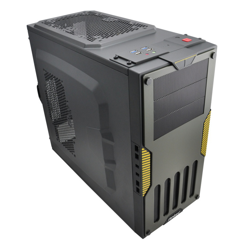 Super Military Chassis Desktop Computer Micro ATX / ATX pure computer case double usb