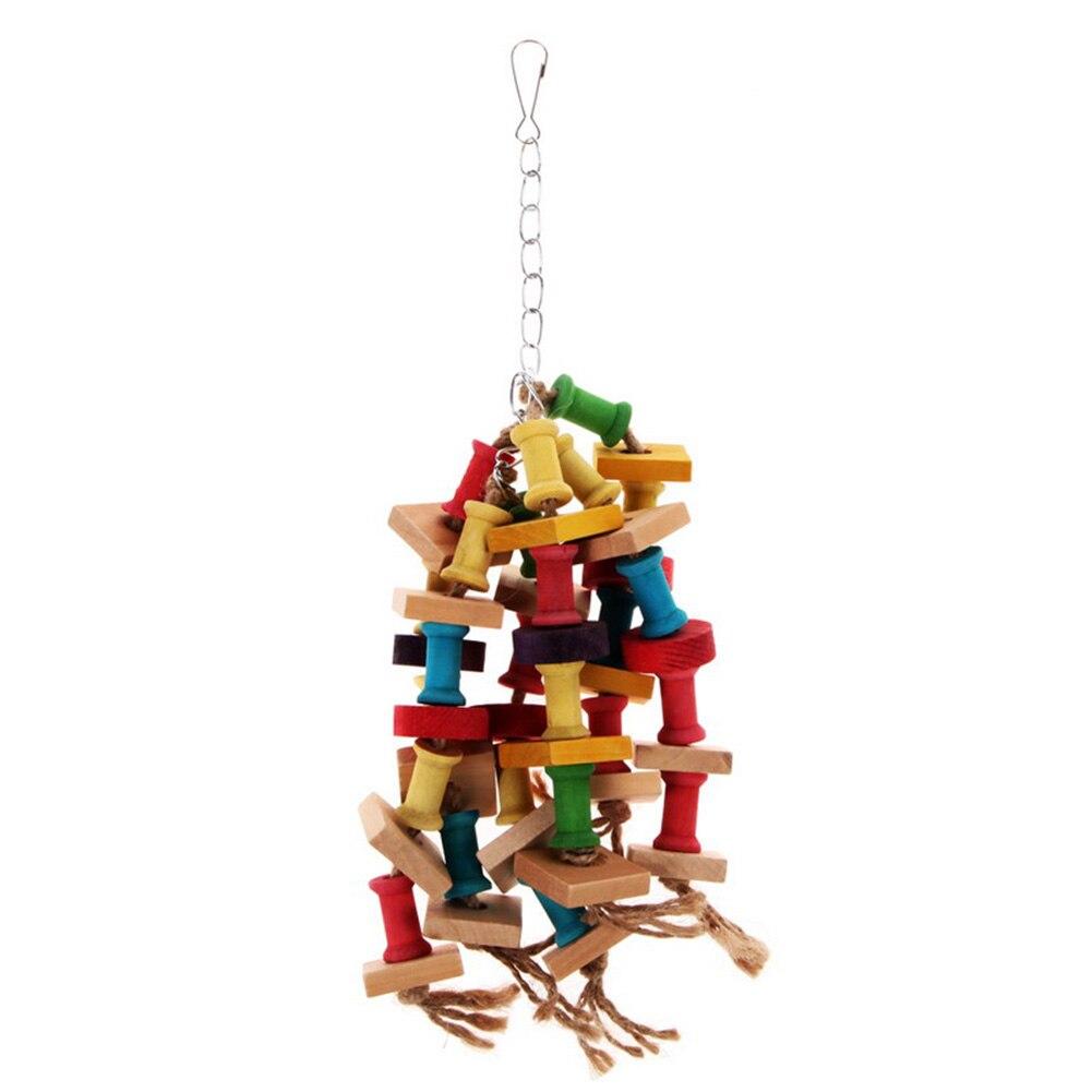 2019 Nieuwe Stijl Voor Papegaaien Huisdier Vogel Conure Van Swing Scratcher Duurzaam Ara Kooi Chew Vogel Speelgoed Speciale Ontwerp Kleurrijke Houten Papegaai Speelgoed Goedkope Verkoop 50%