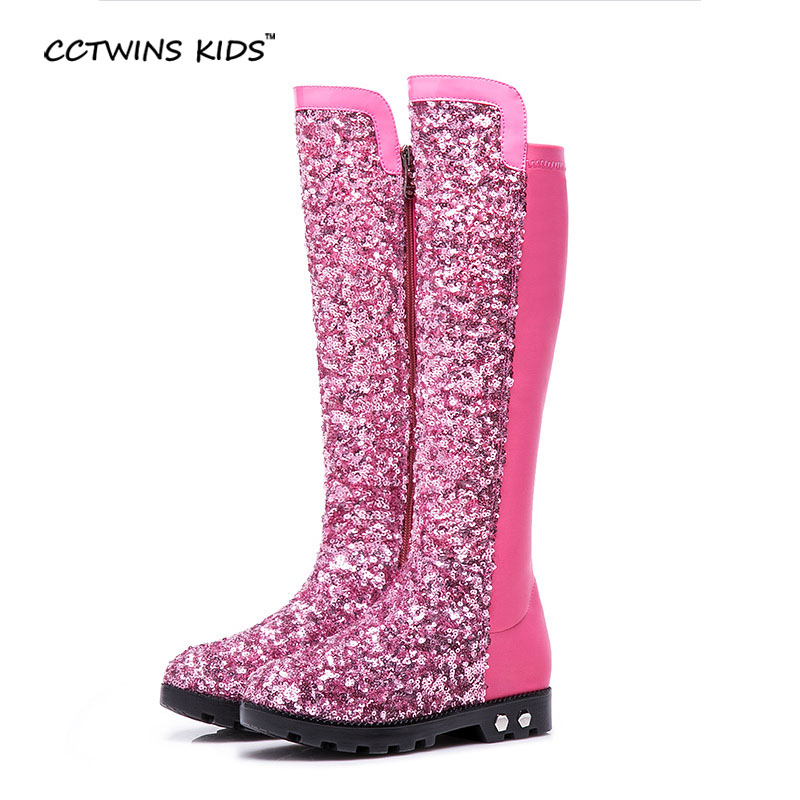 ФОТО CCTWINS KIDS autumn winter sequined Cloth shoes baby girls thigh high boots children fashion boots for toddler glitter boots