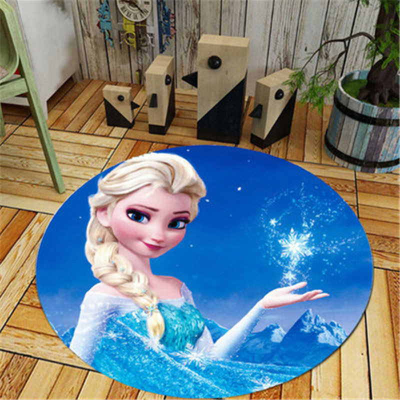 Home Decor Kids Room Carpet Round Disney Cartoon Princess Frozen Elsa And Anne  Baby Play Mat Patchwork Picnic Blanket.