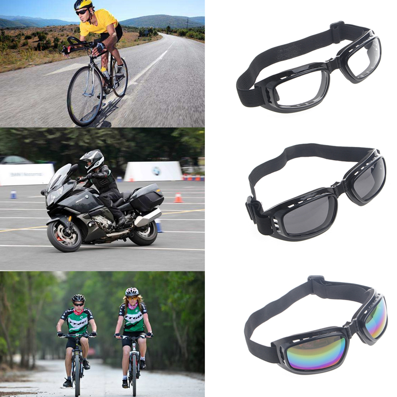 Free Shipping Foldable Safety Goggles Ski Snowboard Motorcycle Eyewear Glasses Eye Protection