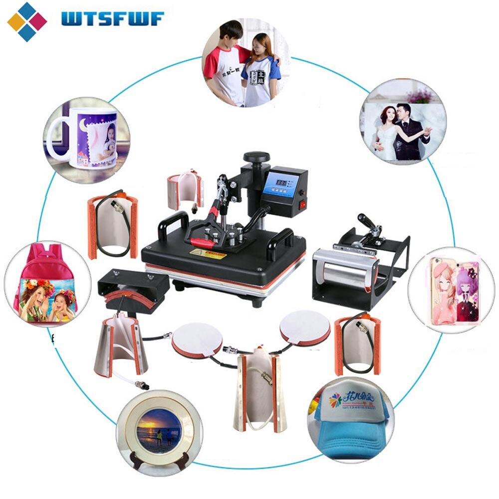 Wtsfwf 30*38 см 10 в 1 комбинированный термопресс принтер 2D Термопринтер для крышки кружка пластина футболки печать