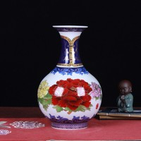 Traditional Style Antique Palace Ceramic Vase Enamel Antique Vase Classical Household Adornment Handicraft Furnishing Articles