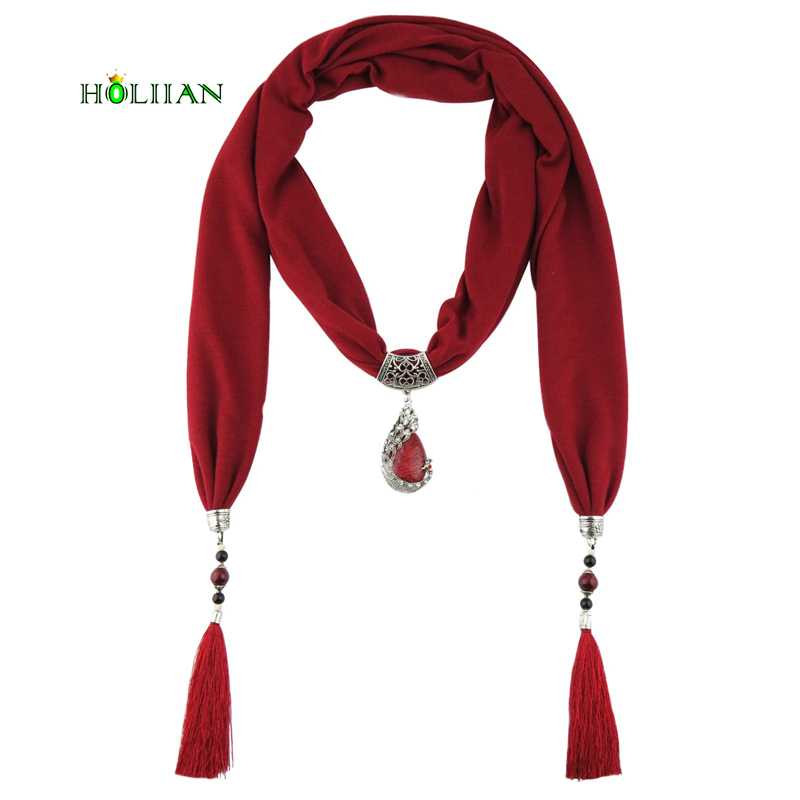 Best Sale Peacock Korean Velvet Bohemia Scraf Necklaces Pendants Shawl Long Tassel Hollo ...