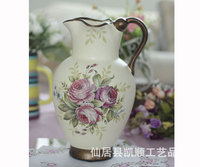 Bulk supply of factory direct wholesale roses hand-painted ceramic vase crack DV-62104