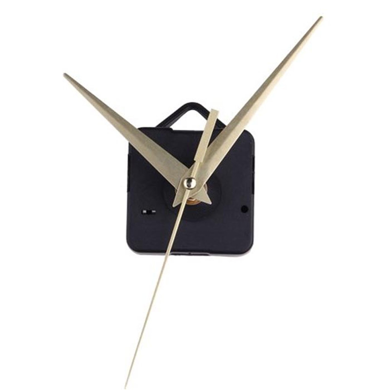 2017 New Arrival High Quality Black Quartz Gold Clock Movement Mechanism Hands DIY Repair Replacement Dropshipping D30JL27(China)