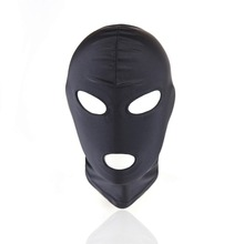 Sex Toy Black Headgear Head Mask Slave Nylon SM Bondage Erotic Toys Sex Headgear Couple Adult Games Restraint Hood Mask Goods
