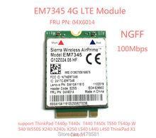 For IBM Lenovo Thinkpad T440 T540P W540 L440 X240 X1 Carbon 4G Module EM7345 NGFF M.2 WWAN Card 04X6014 4G LTE/HSPA+ 42Mbps Card недорого
