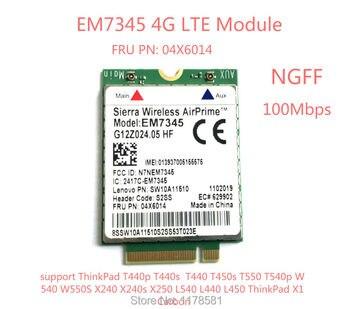 цена на EM7345 4G Card for T440 T540P W540 L440 X240 X1 Carbon 4G Module EM7345 NGFF M.2 WWAN Card 04X6014 4G LTE/HSPA+ 42Mbps Card