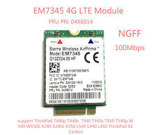 Computer Office - Networking - For IBM Lenovo Thinkpad T440 T540P W540 L440 X240 X1 Carbon 4G Module EM7345 NGFF M.2 WWAN Card 04X6014 4G LTE/HSPA+ 42Mbps Card