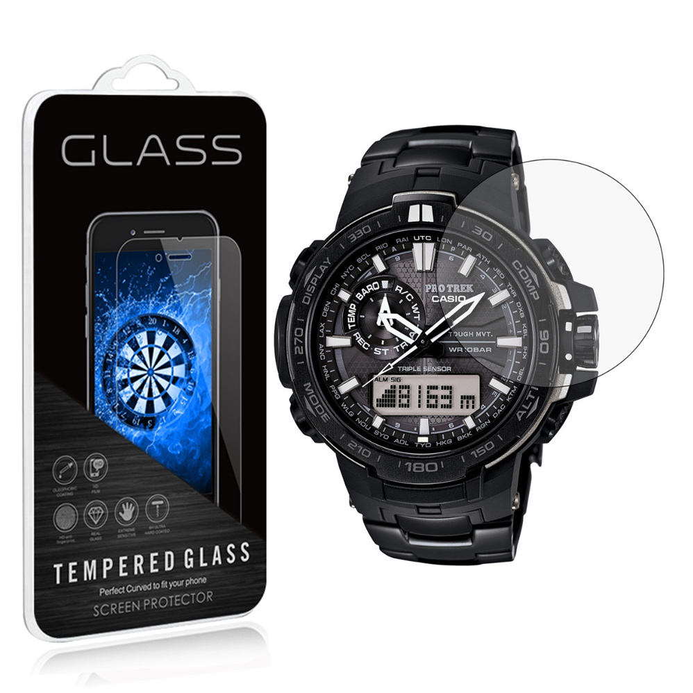 2Pack 0.3MM 2.5D Premium Tempered Glass Screen Protector For Casio PRW-6000-1 YT 6100 Y- ...