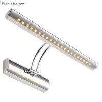 현대적인 미니 멀리 즘 40cm 55cm 미러 조명 벽화 특별 방수 욕실 허영 램프 캐비닛 LED 램프 은색 골드