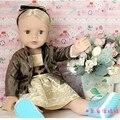 18 дюймов American Girl Кукла Девушки Подарков Игрушки Куклы Brinquedo Александр Девушка Кукла с Зелеными Глазами Блондинка Прямые Волосы